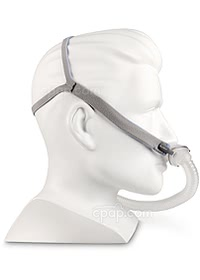 AirFit™ P10 Nasal Pillow CPAP Mask with Headgear - Side View (Mannequin Not Included)