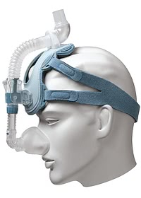 ComfortLite 2 Cushion Mask and Headgear - Front Angle on Mannequin