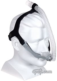 Opus 360 Nasal Pillow Mask (angle front- shown on mannequin)