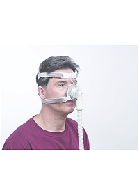 TrueBlue CPAP Mask on Person