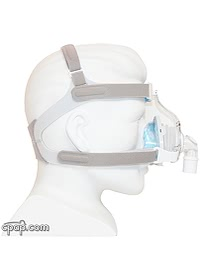 TrueBlue CPAP Mask Side - - Shown on Mannequin