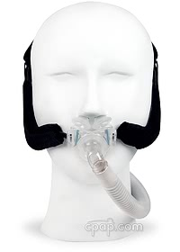 Aloha Nasal Pillow CPAP Mask with Headgear (Shown on Female Mannequin)