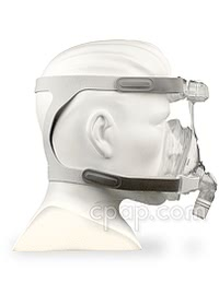 Amara Full Face Mask - Side - Shown on Mannequin (Not Included)