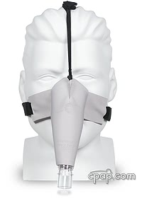 circadiance sleepweaver nasal cloth cpap mask inflated front2