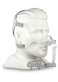 Wisp Nasal CPAP Mask - Clear Frame - Angled (On Mannequin - not included)