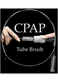 CPAP Tube Brush - Shown with Tube & Hands - Not Included