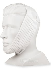 Respironics Deluxe-Style Chinstrap - Side View with Strap Sewn to the Fabric (Mannequin Not Included)