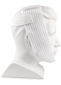 Respironics Deluxe-Style Chinstrap - Side View with Hook and Loop Attachment (Mannequin Not Included)