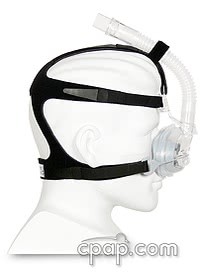 Aclaim 2 Nasal CPAP Mask with Headgear - Side (shown on mannequin)