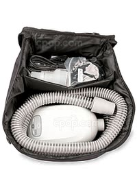 Inside View of the Travel Bag Packaged with Transcend CPAP Machines - Current Style (Machine & Accessories Not Included)