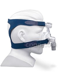 Mirage Micro Nasal CPAP Mask (side - on mannequin)