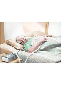 GoLife for Men Nasal Pillow CPAP Mask On Person