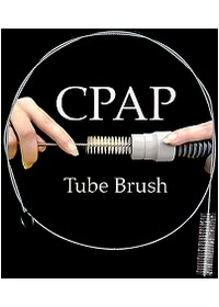 The CPAP Tube Brush - Shown with Hose - Not Included