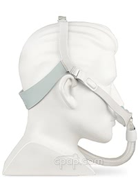 Nunance Nasal Pillow CPAP Mask with Headgear -Side - Shown on Mannequin (Not Included)