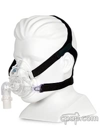 Zzz-Mask Full Face CPAP Mask with Headgear Angle Front - Shown on Mannequin (Not Included)