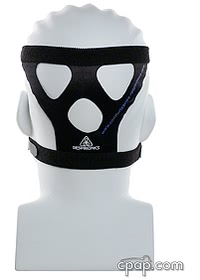 respironics comfort classic headgear on head