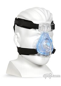 Respironics EasyLife CPAP Mask with Old Style Headgear On Mannequin (not included)