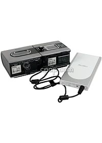 RPS II CPAP Battery Connected to S9 CPAP using S9 DC Cable for RPS II (CPAP Machine Not Included)