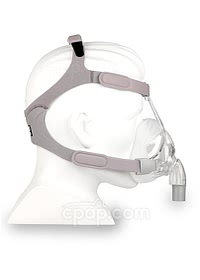 Simplus Full Face CPAP Mask with Headgear - Side View (Mannequin Not Included)