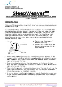 sleepweaver fitting and cleaning guide 3