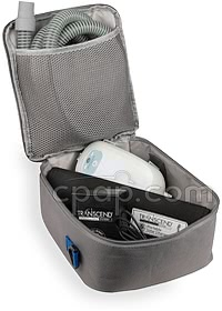 Solar Panel for Transcend - Shown in Transcend Carry bag with Battery & CPAP