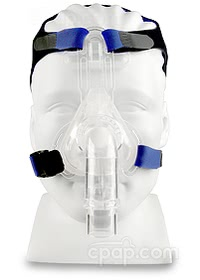 SomnoPlus Nasal CPAP Mask with Headgear - Front View (Mannequin not Included)