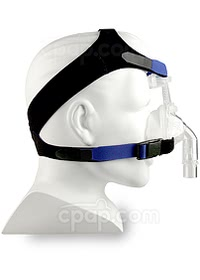 SomnoPlus Nasal CPAP Mask with Headgear - Side View (Mannequin not Included)
