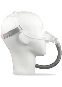 Swift FX Nano For Her Nasal CPAP Mask with Headgear -Side - On Mannequin (Not Included)