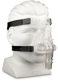 Sylent Nasal CPAP Mask with Headgear - Angle Front on Mannequin