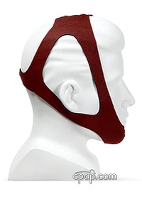 tiara ruby chinstrap maroon side