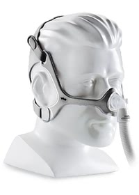 Wisp Nasal CPAP Mask with Headgear-Angle-Front-Mannequin