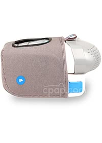 Z1 Travel CPAP Machine - Shown with Optional Powershell and Overnight Battery